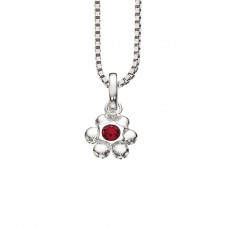 Blomst halskæde - Sølv