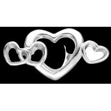 Christina 4 Hearts Love charm - Sølv