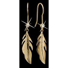 Christina dangling feathers halskæde - Sølv