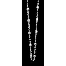 Christina kugle halskæde  - Sølv