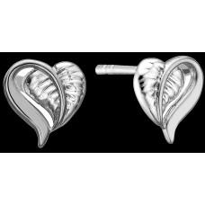 Christina Leaf of Love ørestikker - Sølv
