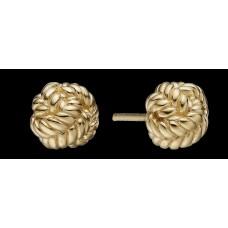 Christina Love Knot ørestikker - Forgyldt