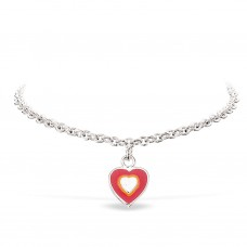 Hjerte armbånd - Sølv
