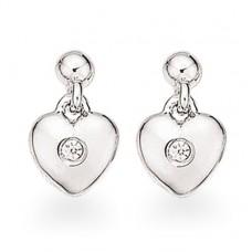 Hjerte ørestikker - Sølv