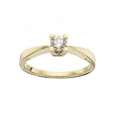 Kleopatra ring 0,25 W/SI - 14 karat