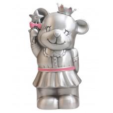 Prinsesse-bamse sparebøsse - Fortinnet