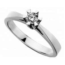 Prinsesse ring 0,15 W/VVS - 14 karat