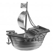 Sørøverskib sparebøsse - Fortinnet