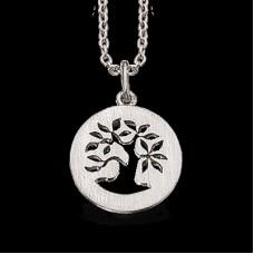 *Vedhæng sølv Livets træ rh. m/kæde - Sølv
